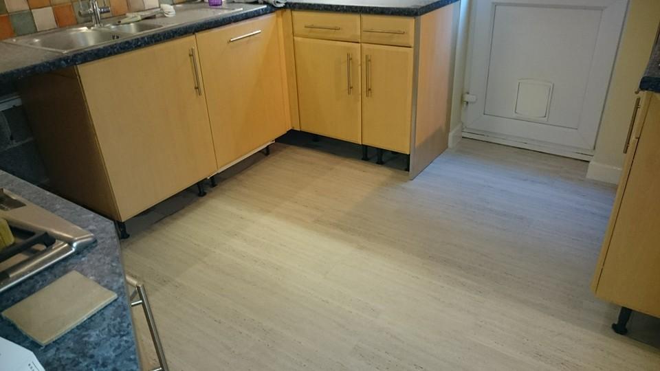 Camaro luxury vinyl tiles luxury vinyl tiles fitted in a kitchen - Camaro Lvt M Amp F Carpets